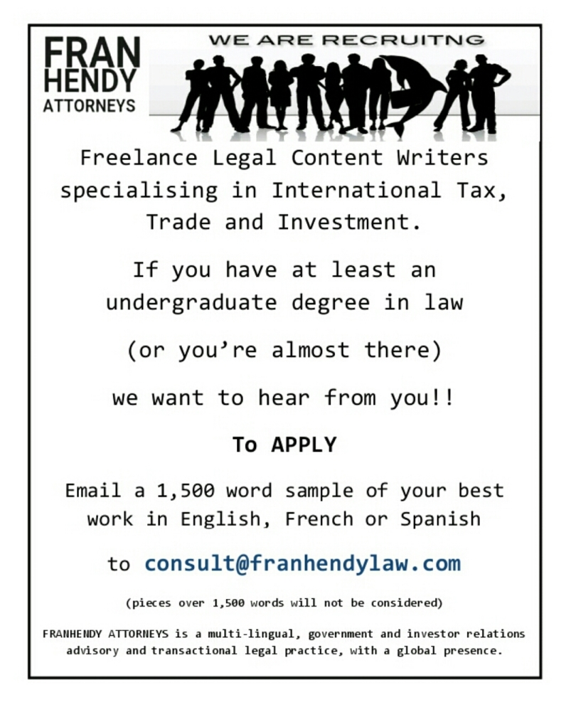 Recruitment AD FRANHENDY Attorneys